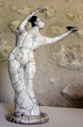 Dancer with Bird. Raku
